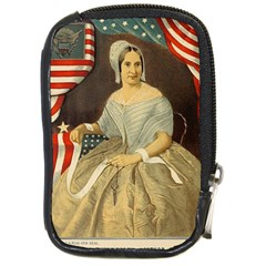 Betsy Ross Author of The First American Flag and Seal Patriotic USA Vintage Portrait Compact Camera Cases