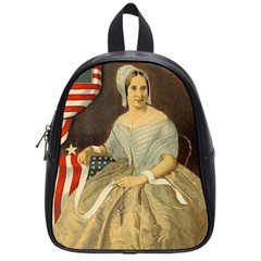 Betsy Ross Author of The First American Flag and Seal Patriotic USA Vintage Portrait School Bags (Small)