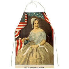 Betsy Ross Author of The First American Flag and Seal Patriotic USA Vintage Portrait Full Print Aprons