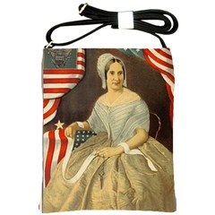 Betsy Ross Author of The First American Flag and Seal Patriotic USA Vintage Portrait Shoulder Sling Bags