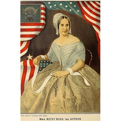 Betsy Ross Author of The First American Flag and Seal Patriotic USA Vintage Portrait 5.5  x 8.5  Notebooks