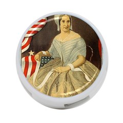 Betsy Ross Author of The First American Flag and Seal Patriotic USA Vintage Portrait 4-Port USB Hub (One Side)
