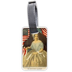 Betsy Ross Author of The First American Flag and Seal Patriotic USA Vintage Portrait Luggage Tags (One Side)