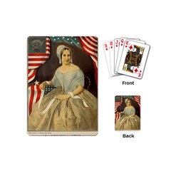 Betsy Ross Author of The First American Flag and Seal Patriotic USA Vintage Portrait Playing Cards (Mini)