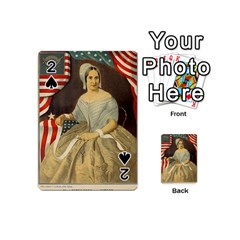 Betsy Ross Author of The First American Flag and Seal Patriotic USA Vintage Portrait Playing Cards 54 (Mini)