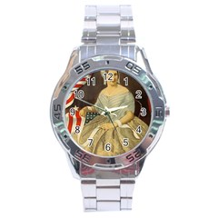 Betsy Ross Author of The First American Flag and Seal Patriotic USA Vintage Portrait Stainless Steel Analogue Watch