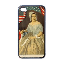 Betsy Ross Author of The First American Flag and Seal Patriotic USA Vintage Portrait Apple iPhone 4 Case (Black)