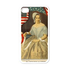 Betsy Ross Author of The First American Flag and Seal Patriotic USA Vintage Portrait Apple iPhone 4 Case (White)