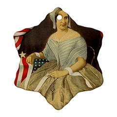 Betsy Ross Author of The First American Flag and Seal Patriotic USA Vintage Portrait Snowflake Ornament (Two Sides)