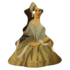 Betsy Ross Author of The First American Flag and Seal Patriotic USA Vintage Portrait Christmas Tree Ornament (Two Sides)