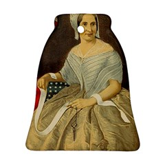 Betsy Ross Author of The First American Flag and Seal Patriotic USA Vintage Portrait Bell Ornament (Two Sides)