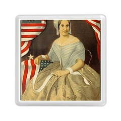 Betsy Ross Author of The First American Flag and Seal Patriotic USA Vintage Portrait Memory Card Reader (Square)