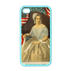 Betsy Ross Author of The First American Flag and Seal Patriotic USA Vintage Portrait Apple iPhone 4 Case (Color)