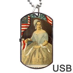 Betsy Ross Author of The First American Flag and Seal Patriotic USA Vintage Portrait Dog Tag USB Flash (Two Sides)