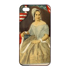 Betsy Ross Author of The First American Flag and Seal Patriotic USA Vintage Portrait Apple iPhone 4/4s Seamless Case (Black)
