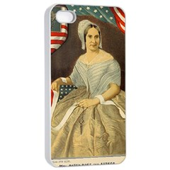 Betsy Ross Author of The First American Flag and Seal Patriotic USA Vintage Portrait Apple iPhone 4/4s Seamless Case (White)