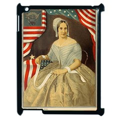 Betsy Ross Author of The First American Flag and Seal Patriotic USA Vintage Portrait Apple iPad 2 Case (Black)
