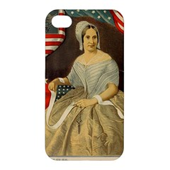 Betsy Ross Author of The First American Flag and Seal Patriotic USA Vintage Portrait Apple iPhone 4/4S Hardshell Case