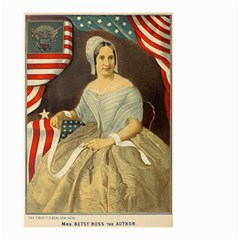 Betsy Ross Author of The First American Flag and Seal Patriotic USA Vintage Portrait Small Garden Flag (Two Sides)