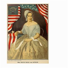 Betsy Ross Author of The First American Flag and Seal Patriotic USA Vintage Portrait Large Garden Flag (Two Sides)