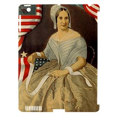 Betsy Ross Author of The First American Flag and Seal Patriotic USA Vintage Portrait Apple iPad 3/4 Hardshell Case (Compatible with Smart Cover)
