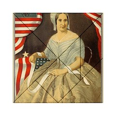 Betsy Ross Author of The First American Flag and Seal Patriotic USA Vintage Portrait Acrylic Tangram Puzzle (6  x 6 )