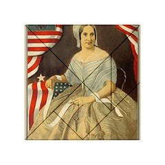 Betsy Ross Author of The First American Flag and Seal Patriotic USA Vintage Portrait Acrylic Tangram Puzzle (4  x 4 )