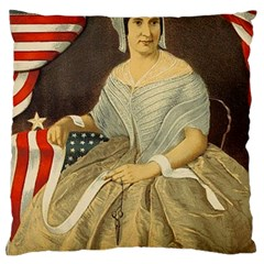 Betsy Ross Author of The First American Flag and Seal Patriotic USA Vintage Portrait Large Cushion Case (One Side)