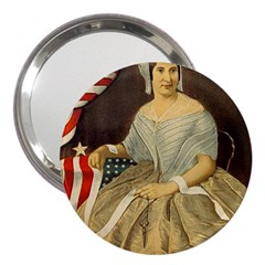 Betsy Ross Author of The First American Flag and Seal Patriotic USA Vintage Portrait 3  Handbag Mirrors