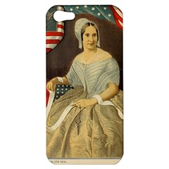 Betsy Ross Author of The First American Flag and Seal Patriotic USA Vintage Portrait Apple iPhone 5 Hardshell Case