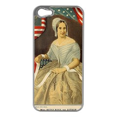 Betsy Ross Author of The First American Flag and Seal Patriotic USA Vintage Portrait Apple iPhone 5 Case (Silver)