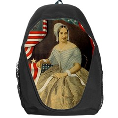 Betsy Ross Author of The First American Flag and Seal Patriotic USA Vintage Portrait Backpack Bag