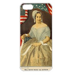 Betsy Ross Author of The First American Flag and Seal Patriotic USA Vintage Portrait Apple iPhone 5 Seamless Case (White)