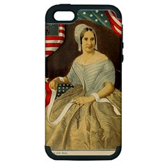 Betsy Ross Author of The First American Flag and Seal Patriotic USA Vintage Portrait Apple iPhone 5 Hardshell Case (PC+Silicone)
