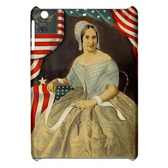 Betsy Ross Author of The First American Flag and Seal Patriotic USA Vintage Portrait Apple iPad Mini Hardshell Case
