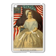 Betsy Ross Author of The First American Flag and Seal Patriotic USA Vintage Portrait Apple iPad Mini Case (White)