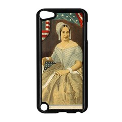 Betsy Ross Author of The First American Flag and Seal Patriotic USA Vintage Portrait Apple iPod Touch 5 Case (Black)