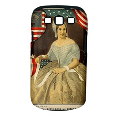 Betsy Ross Author of The First American Flag and Seal Patriotic USA Vintage Portrait Samsung Galaxy S III Classic Hardshell Case (PC+Silicone)
