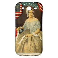Betsy Ross Author of The First American Flag and Seal Patriotic USA Vintage Portrait Samsung Galaxy S3 S III Classic Hardshell Back Case