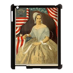 Betsy Ross Author of The First American Flag and Seal Patriotic USA Vintage Portrait Apple iPad 3/4 Case (Black)