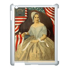 Betsy Ross Author of The First American Flag and Seal Patriotic USA Vintage Portrait Apple iPad 3/4 Case (White)