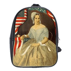 Betsy Ross Author of The First American Flag and Seal Patriotic USA Vintage Portrait School Bags (XL)