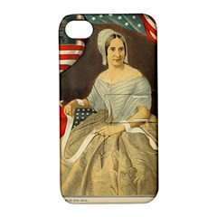 Betsy Ross Author of The First American Flag and Seal Patriotic USA Vintage Portrait Apple iPhone 4/4S Hardshell Case with Stand
