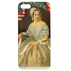 Betsy Ross Author of The First American Flag and Seal Patriotic USA Vintage Portrait Apple iPhone 5 Hardshell Case with Stand