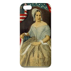 Betsy Ross Author of The First American Flag and Seal Patriotic USA Vintage Portrait Apple iPhone 5 Premium Hardshell Case