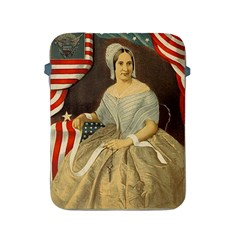 Betsy Ross Author of The First American Flag and Seal Patriotic USA Vintage Portrait Apple iPad 2/3/4 Protective Soft Cases