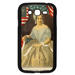 Betsy Ross Author of The First American Flag and Seal Patriotic USA Vintage Portrait Samsung Galaxy Grand DUOS I9082 Case (Black)