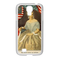 Betsy Ross Author of The First American Flag and Seal Patriotic USA Vintage Portrait Samsung GALAXY S4 I9500/ I9505 Case (White)