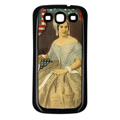 Betsy Ross Author of The First American Flag and Seal Patriotic USA Vintage Portrait Samsung Galaxy S3 Back Case (Black)