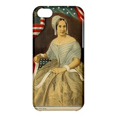 Betsy Ross Author of The First American Flag and Seal Patriotic USA Vintage Portrait Apple iPhone 5C Hardshell Case